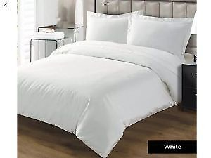 Plain White Duvet cover set on sale