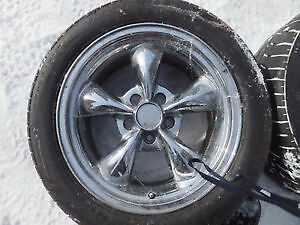 Ford chrome 17 inch rims with tires