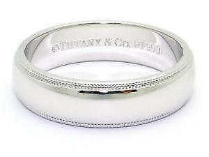 Tiffany wedding band ebay for Tiffany mens wedding ring