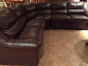3 piece couch italian real leather  imported from italy