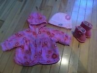 Baby girl spring/fall jacket with mayching boots