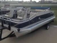 **2014 22 foot Grand Island Pontoon boat with 60 hp and trailer