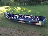 Sportspal 12 ft transom canoes only 46 lbs holds 528lbs 3 left!!
