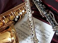 IN HOME MUSIC LESSONS - SAXOPHONE / FLUTE / CLARINET / PIANO