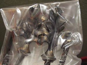 2 PC Umbra Orly 1/2-Inch Drapery Holdbacks Set antique bronze fi