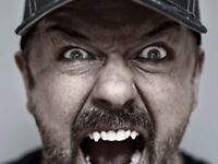 1 x Ricky Gervais Ticket - Humanity Tour - Colston Hall, Bristol - 22nd Feb