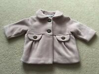 girls soft mauve coat from Next size 3 - 6 months BRAND NEW