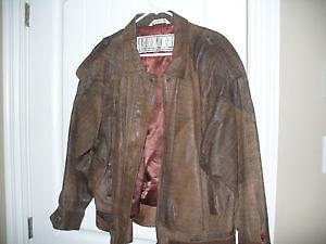 Vintage leather Bomber jacket