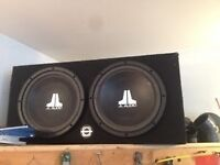 "2 10"" jl audio subs amd box"
