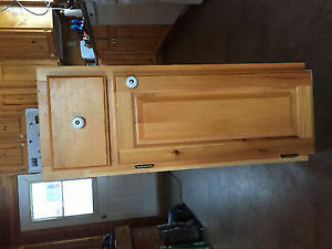 "12"" x 35"" Pine Cabinet with drawer"