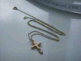 9CT GOLD CRUCIFIX/CROSS AND CHAIN £55