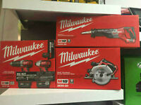 Liquidation ensemble drill impact Milwaukee M18 Garantie 5 ans!