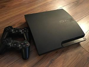 PLAYSTATION 3 SLIM WITH NBA 2K17 and NBA 2K16  - 2 CONTROLLERS