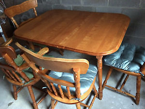 WOOD DINING TABLE SET- 150 OBO