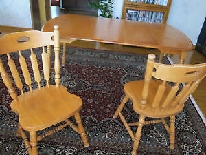 All wood Kitchen table and chairs