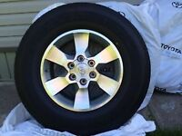4) Brand New Toyota Factory Mag rims and tires 265/70R17