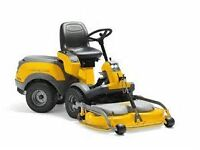 Stiga park pro 16 with 107cm mulching deck and also have a flail deck
