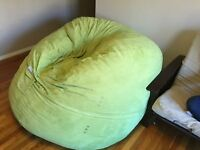 Super sized bean bag couch