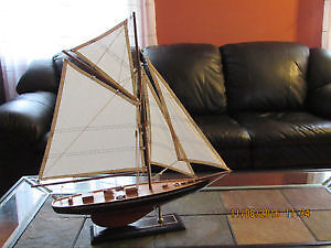 NEW wooden big yacht scale model, great detailed