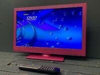 "16"" PINK LED DVD TV CAN DELIVER"