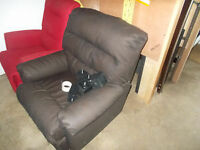 Brand new leather match recliner