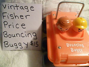 Vintage Fisher Price Bouncing Buggy