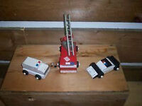 Hand Made Wooden Emergency Vehicles