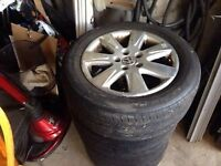 ONLY USED ONCE Volkswagen TIRES & RIMS 300$