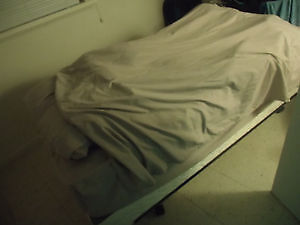 Twin Bed, comes with mattress boxspring and frame