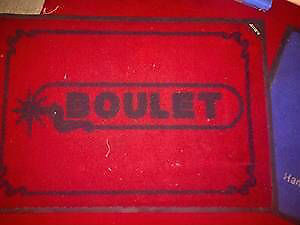 VINTAGE  BOULET BOOTS RUG-WESTERN COLLECTIBLE $49