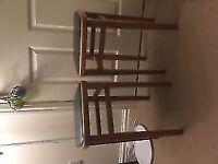 2 wooden vintage stools