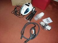 STEAM CLEANER WITH ATTACHMENTS ,BRANDNEW, USED ONCE, STILL IN ORIGINAL BOX FOR SALE