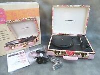 Pink Floral Crosley Record Player