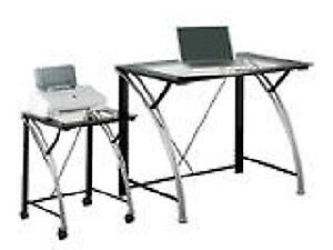 """Tempered Glass Desk/Cart Combo """"Brand New In Box"""""""