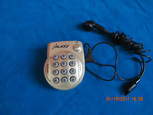 Mini corded telephone with earpiece