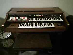 Leslie electric organ for sale with bench
