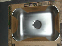 "Neptune Stainless Steel Sink 25""x22""x6"". never used"