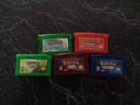 Pokemon fire red leaf green ruby sapphire and emerald !!!!!!