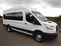 *****FORD TRANSIT 17 SEATER SCHOOL MINIBUS AVAILABLE TO HIRE £89 SINGLE DAY RATE*****
