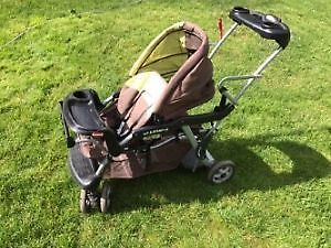 Poussette double stroller Sit and Stand LX