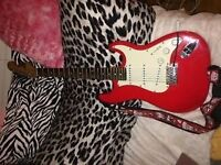 Eletric guitar with accesories