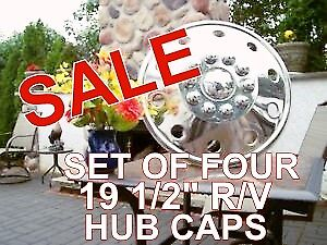 "I'AM SELLING.....A SET OF 4 .... 19 1/2""  R/V  HUB CAPS"