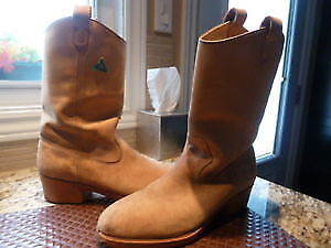 GREB STEEL TOE COWBOY BOOTS--MEN' SIZE 10   (VGC)