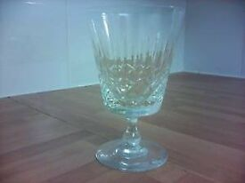 6 Cut Glass Red Wine Glasses