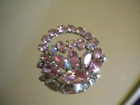 SHERMAN SIGNED BROOCH IN PRETTY IN PINK!! GORGEOUS!!