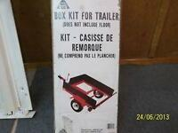 Kit to make a box trailer -$85 -Kit casisse de remorque