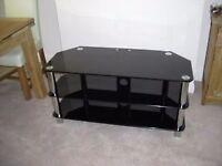 Smoked Glass Video TV Stand/ corner unit