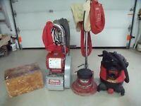 Sableuse/polisseuse/aspirateur/coffre a outils (kit)