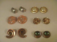 6 Pairs Of Clip On Earrings