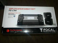 Focal FD 4.350 BNIB (unopened) ultra compact 4 channel amps x 2